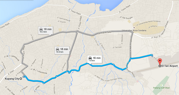 Info Angkutan Bus Taksi Di Bandara El Tari Kupang